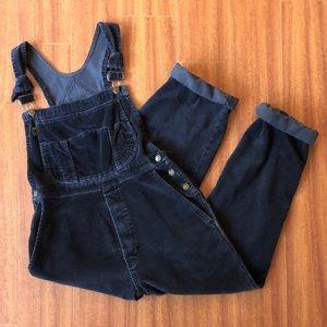 Vintage Dr Martens Black Corduroy Overalls